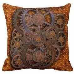Steampunk pillow