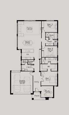 If you are interested in a home design, our home consultants are available to talk to you about your building project. Contact us today and start your home journey. Log Cabin Floor Plans, Modern House Floor Plans, Home Design Floor Plans, Narrow House Plans, My House Plans, Bedroom House Plans, Granny Flat Plans, Compact House, Floor Layout