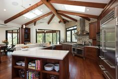 Expose your wood beams in your new kitchen remodel!