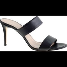 J.Crew Lena Heel Amazing Italian leather classic heel. Goes with anything and everything. Black leather, new in box with duster bag J. Crew Shoes