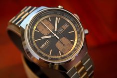 """The Seiko 6138 is a model that's mentioned a lot in watch collecting circles, and for very good reason. While it's not Seiko's first automatic chrono (the 6139 takes that honor being released one year earlier in 1969), it is their first two-register model, featuring 30-minute and 12-hour sub-dials. Couple this with day-date as well … Continue reading Watches and F1: Seiko 6138-8039 """"John Player Special"""""""