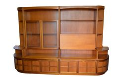 Mid Century  Danish Modern Teak Wall Unit By Nathan - Used In TV Show!