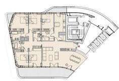 Plan of an apartment. CityLife Milano Residential Complex, 2014 | Zaha Hadid Architects