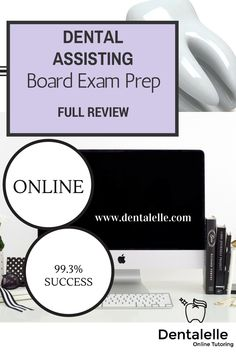 Dentalelle Tutoring is the place to be :). We have been tutoring for 10 years and hold a 99.3% success rate in helping students pass the exam when tutoring with us. Dental Assisting FULL Board Exam Prep Course - a full 6 weeks of tutoring LIVE AND INTERACTIVE with Audio/Video weekly on Sunday's at 9am EST. *FREE MOCK EXAM INCLUDED WITH THIS DOWNLOAD HERE.