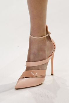 Dior Nude Ankle-Strap Sandal Spring 2013 Haute Couture #Shoes #Heels