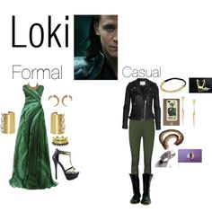 Avengers Inspired Fashion: Loki. Formal and casual