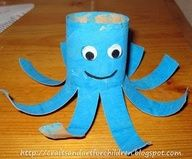 toilet paper roll octopus.. todays craft :)