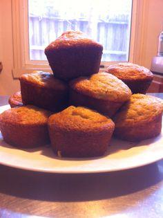 My cinnamon banana muffins. :)