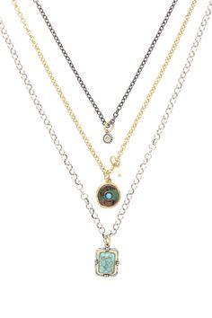 Sparkling Sage - Burnished Silver Plated Crystal & Resin Charm Necklace
