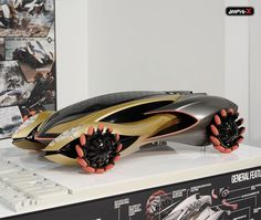Futuristic Car, Amphi-X Amphibious Vehicle For Dubai 2030 By Beichen Nan Crazy wheels. Designed to allow the car to move sideways Futuristic Cars, Futuristic Design, Amphibious Vehicle, Future Transportation, Car Sketch, Panzer, Future Car, Automotive Design, T Rex