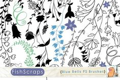 Blue Bell PS Brushes - Clip Art. Photoshop Brushes. $6.00