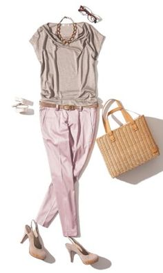 oggi Pink Fashion, Fashion Looks, Womens Fashion, Chic Outfits, Fashion Outfits, Summer Work Outfits, Office Fashion, Mode Style, Japanese Fashion