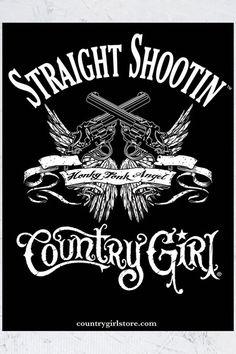 "18"""" x 24"""" Poster - Straight Shootin' Country Girl®"