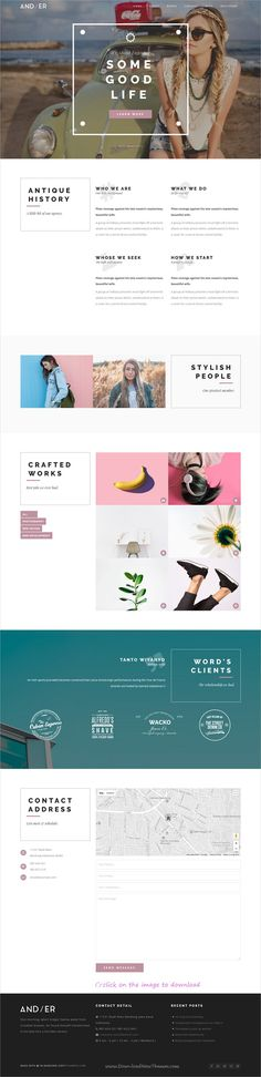 Andier is clean and modern design responsive #WordPress theme for creative #agency and #portfolio showcase website with 7+ different homepage layouts to download click on image.