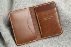 Get the lowest price on the Chester Mox Chromexcel® Compact Bifold and discover the best watches, boots and denim from the Men's Style enthusiast community on Massdrop. Leather Wallet Pattern, Slim Leather Wallet, Handmade Leather Wallet, Sewing Leather, Leather Craft, Leather Working Patterns, Leather Company, Leather Projects, Leather Accessories