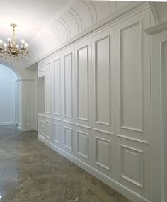 Wall Design, House Design, Hallway Storage, Classic Living Room, Custom Home Designs, Built In Cabinets, Interior Trim, Interior Design Inspiration, Home Projects