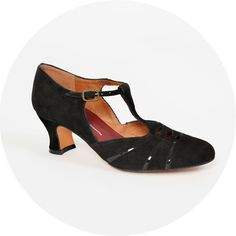 ReMix Vintage Shoes 1920s Opera Black. This website sells really gorgeous leather reproduction vintage shoes (also sells clothing. )