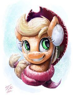 Snow Pony_Applejack by Tsitra360.deviantart.com on @DeviantArt