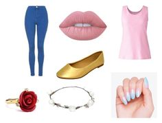 """Aurora"" by ohwhatshername on Polyvore featuring Oscar de la Renta, Lime Crime, Lands' End, Topshop and Lipsy"