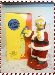 Large Talking & Dancing Homer Simpson 2002 Animated Santa - IOB - L@@K