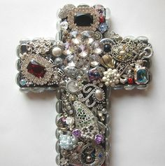 Ready to Ship Handmade Recycled Jewelry Wall by happybdaytome, $125.00