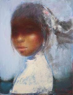 Ilgvars Zalāns, Javanese Girl 1, acrylic on canvas, 2014