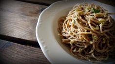 αβοκάντο Pesto, Spaghetti, Ethnic Recipes, Food, Essen, Meals, Yemek, Noodle, Eten