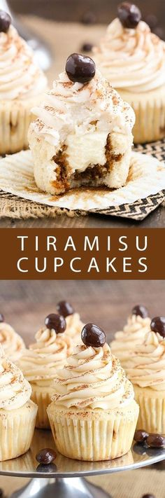 Tiramisu Cupcakes! So moist and just like eating individual tiramisu!
