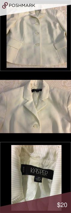 KASPER Petite White Blazer KASPER Petite White Blazer Kasper Jackets & Coats Jean Jackets