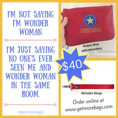 Order this fun wristlet set at www.getmorebags.com. Pro tip: change the O's to zeroes. ;)