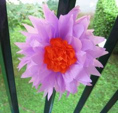 Flores de papel de seda: fotos ideas DIY - Flores lilas