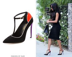 Naya Rivera heads to a taping of Chelsea Lately, Los Angeles, August 26, 2014 Jerome Rousseau 'Dragonette' Pumps - $349.00 Worn with: Hermès bag