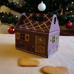 Gingerbread house favor box template