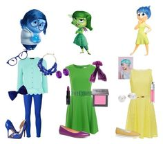 """""""Inside Out: Joy, Sadness, and Disgust"""" by purplemolly1 ❤ liked on Polyvore"""