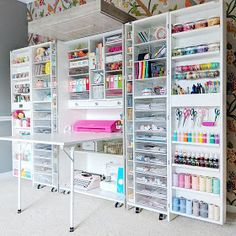 Paige Taylor Evans: DreamBox by The Original ScrapBox. DreamBox by The Original ScrapBox Craft Room Storage, Craft Storage Cabinets, Craft Closet Organization, Craft Room Decor, Craft Room Design, Craft Cabinet, Paper Storage, Organiser Son Dressing, Small Craft Rooms