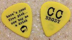 Chris Chaussee custom guitar pick by claytoncustom.com