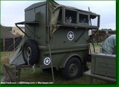 Bantam Jeep trailer is used for war birds