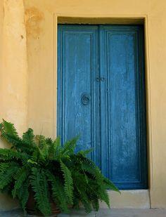 side-door of an Agean island's house - Spetses, Attiki