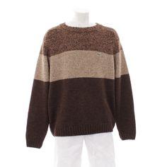Erdiger Pullover von Lacoste in Braun Gr. 2XL - Wollmischung
