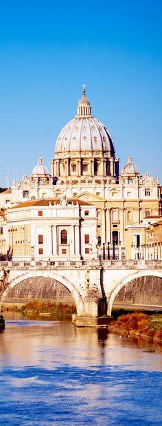 Visión en la catedral del Tíber y San Pedro en Roma, Italia |  Fotografía increíble de las ciudades y Señales famosas de alrededor del mundo
