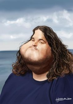 Lost, Hurley caricature.