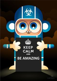 cute, end of the world, fun, keep calm and, keep calm and be amazing, keep calm and carry on, meme, monkey, screen, suit, viral, virus