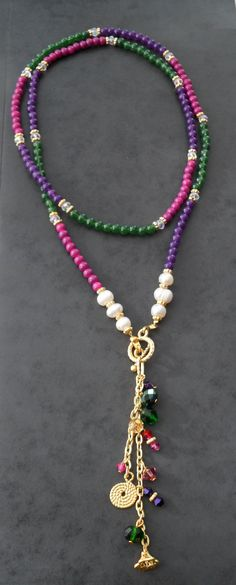 Colorful Necklace with Swarovski Items and by SwedishShop on Etsy, $19.90