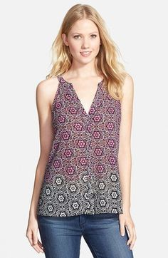 Sanctuary+Mixed+Print+Sleeveless+Woven+Top+available+at+#Nordstrom