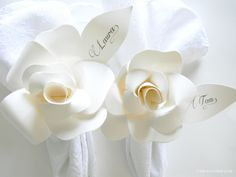 Paper Flower Napkin Rings & Creative Way to Seat Guests