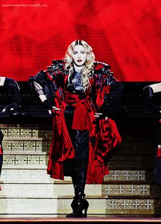 Madonna performing on her Rebel Heart tour in Manchester on 12/14/2015