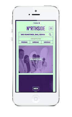 Northside 2014 Music Festival Mobile App | Neon Colors in User Interface Design #UI in Inspiration