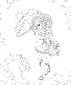 anime lolita coloring pages   Shappo Lolita :lineart: by Trinity-In-Rainbows on deviantART