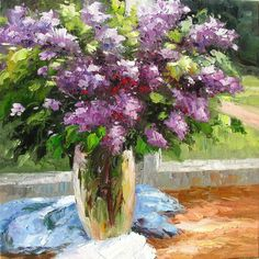 lilac bouquet oil painting #oil #painting #lilac www.etsy.com/listing/71684410
