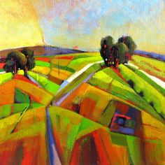 Golden Fields Landscapeoriginal painting on canvas by ninoart